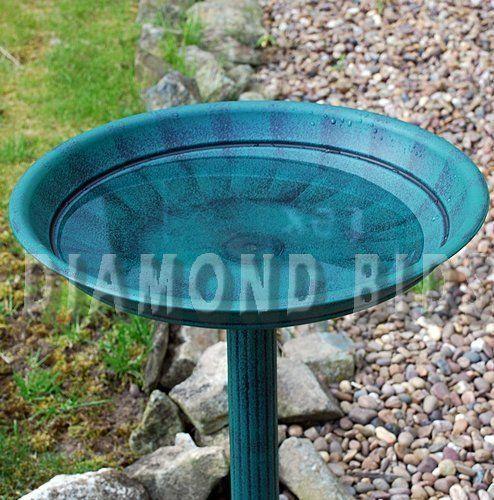 Garden-Bird-Bath-Water-Wild-Station-Outdoor-Classic-Resin-Pedestal-Traditional