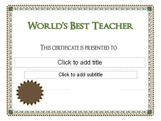 pre k award certificate templates - world 39 s best teacher award certificate pre k graduation