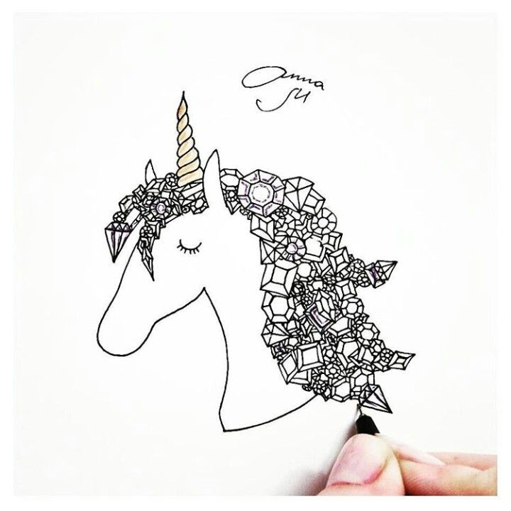 Tumblr drawing unicorn