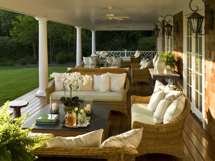 Brown country patio for Outside veranda designs