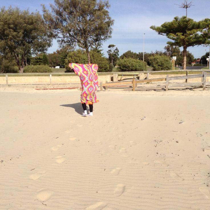 Me with a Tiedye scarf // Bunbury, Western Australia // June 1, 2015 // Monday, 1:14PM