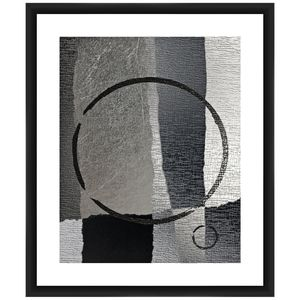 Circular Gray I 26 inch High Framed Giclee Wall Art