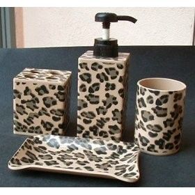 Leopard Shower Set | Leopard Print 4 Piece Bath Set review | buy, shop with friends, sale ...