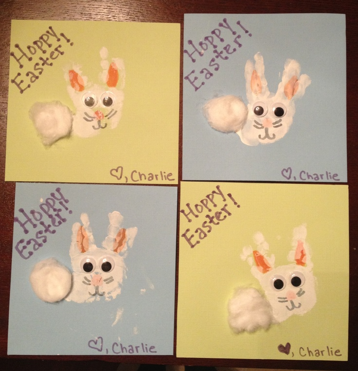 68 best easter bunny love images on pinterest easter ideas easter easter bunny handprint craft for baby or kids negle Gallery