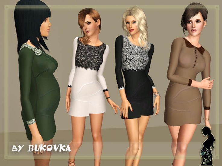 Sims 3 red dress leopard