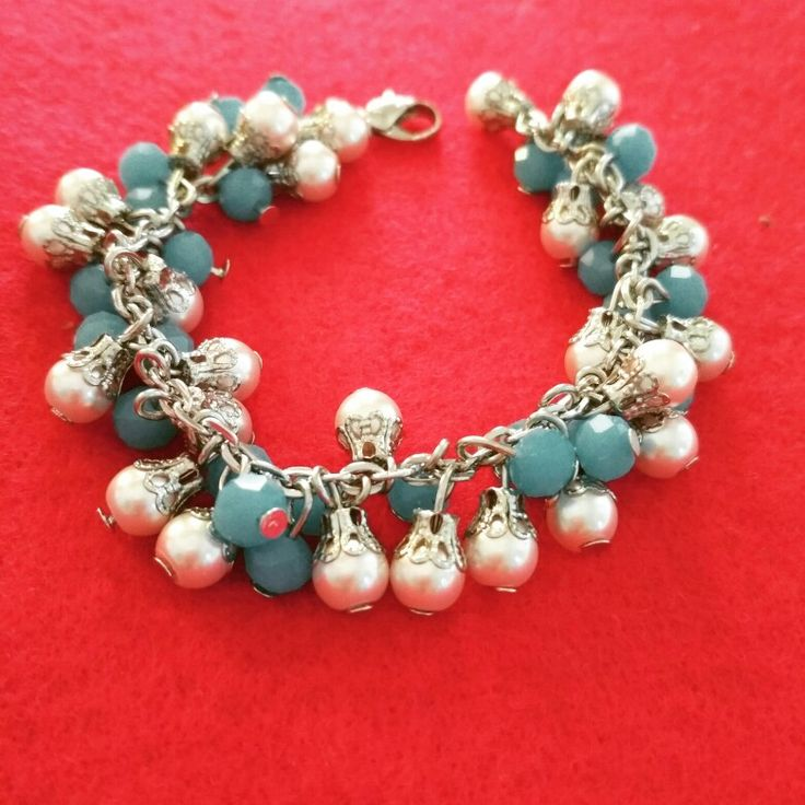 Bracelet chrystal dove and pearls