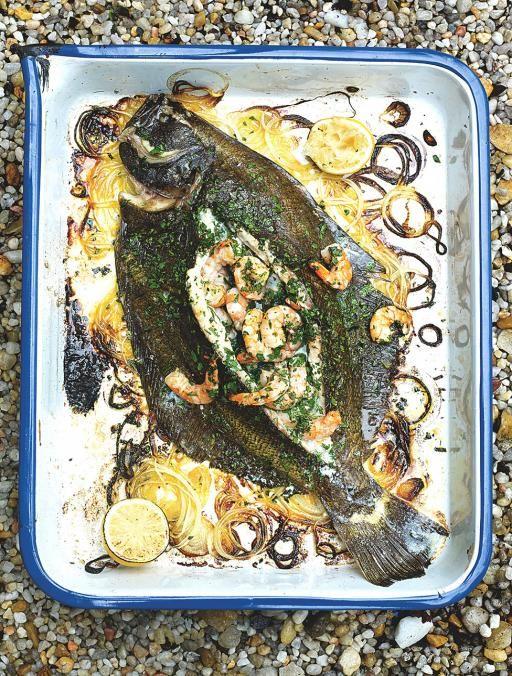 Prawn Stuffed Flatfish | Seafood Recipes | Jamie Oliver Recipes