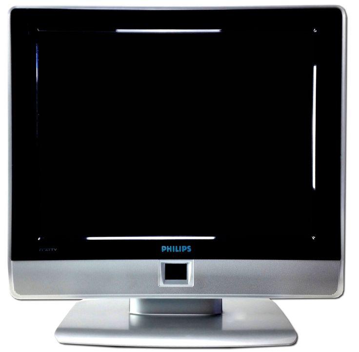 PHILIPS 20 Zoll / 51cm FLAT TV LCD Fernseher Chinch Scart DVI HF 4:3; EEK Asparen25.com , sparen25.de , sparen25.info