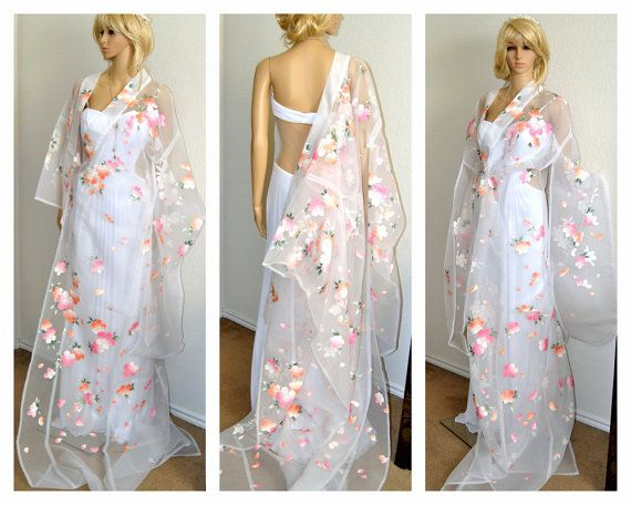 Unique Bridal Japanese Kimono Robe Traditional by EventOutlet