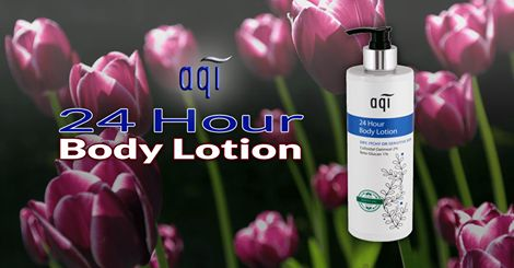 24 Hour Body Lotion ~ This deep nourishing lotion offers intense moisture for up to 24 hours for sensitive, allergy prone and fragile skin while protecting against dryness. #naturalskincare #skincareproducts #Australianskincare #AqiskinCare #australianmade