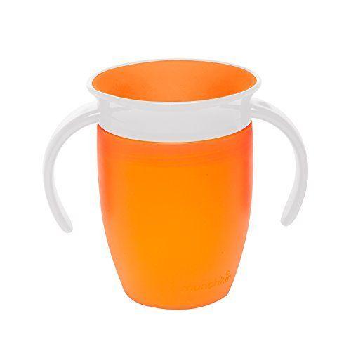 Munchkin Tasse Miracle 360ᵒ: Sans BPA pour Lot de 2Tasse culbuto avec dentist-recommended, spoutless conception Joints coupe…