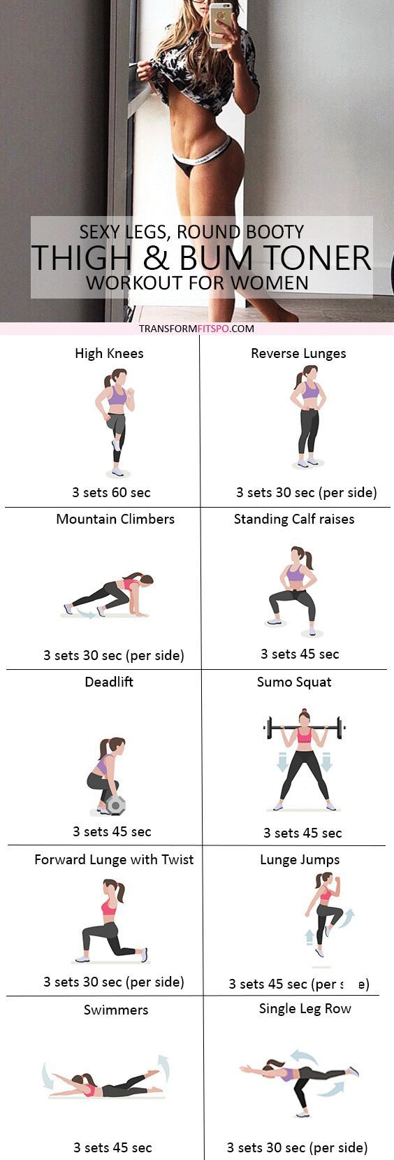 Repin and share if this workout gave you sexy toned legs much faster than you thought! Read the post for all the workout info!