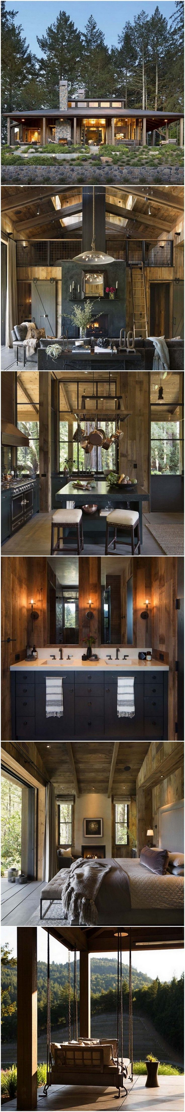 Farmhouse Style Cabin In Napa Valley #interiordesign #designtrends #luxuryfurniture #colortrends  #decoration #homedecor #interiordesigninspiration #interiordesigntips #decoratingideas #livingroomideas #diningroomideas #designtrends #designideas #trendsetters