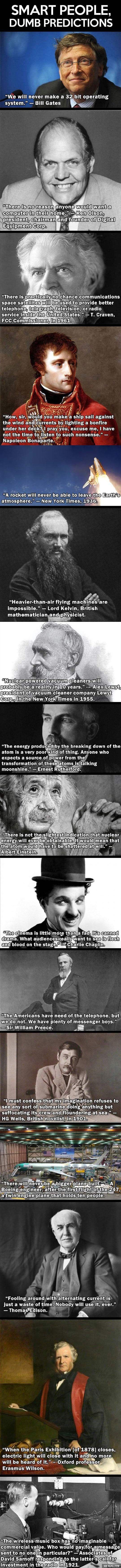 Smart people, dumb predictions