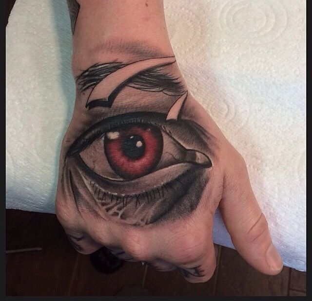 Hand Eye Tattoo: Eye Tattoo On The Hand By Pete