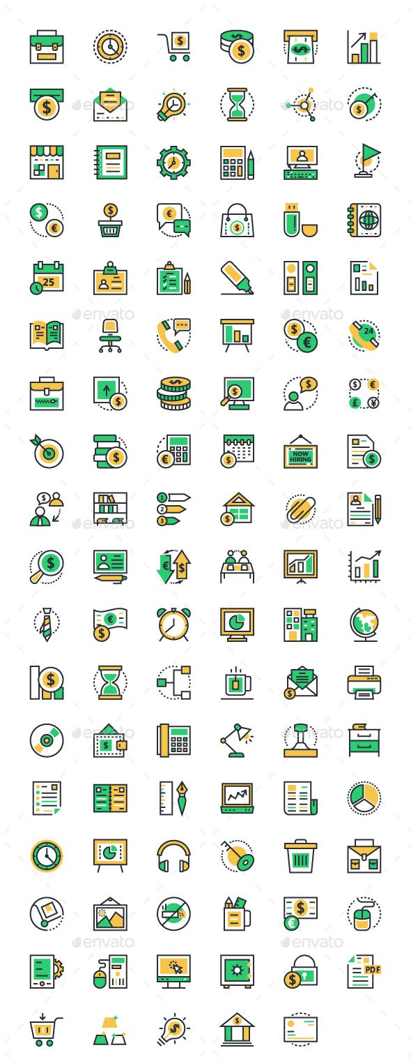 100+ Business and Office Icons — Transparent PNG #office vector icons #set of business icons • Available here → https://graphicriver.net/item/100-business-and-office-icons/14555788?ref=pxcr