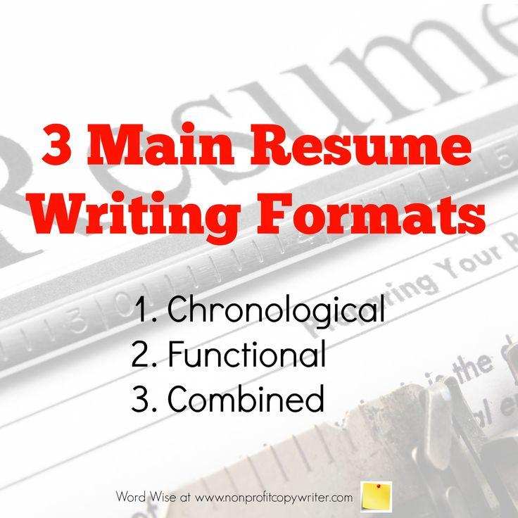 Resume Writting 3 main resume writing formats explained 3 Main Resume Writing Formats Explained