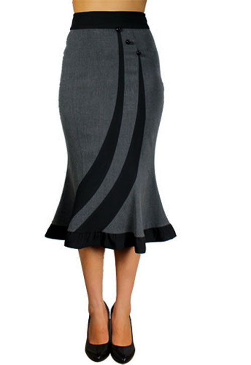 rk36 fitted flared work pencil skirt rockabilly pin up 50s