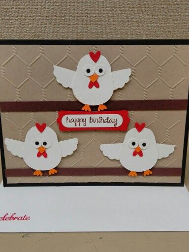 Stampin up owl punch chicken card