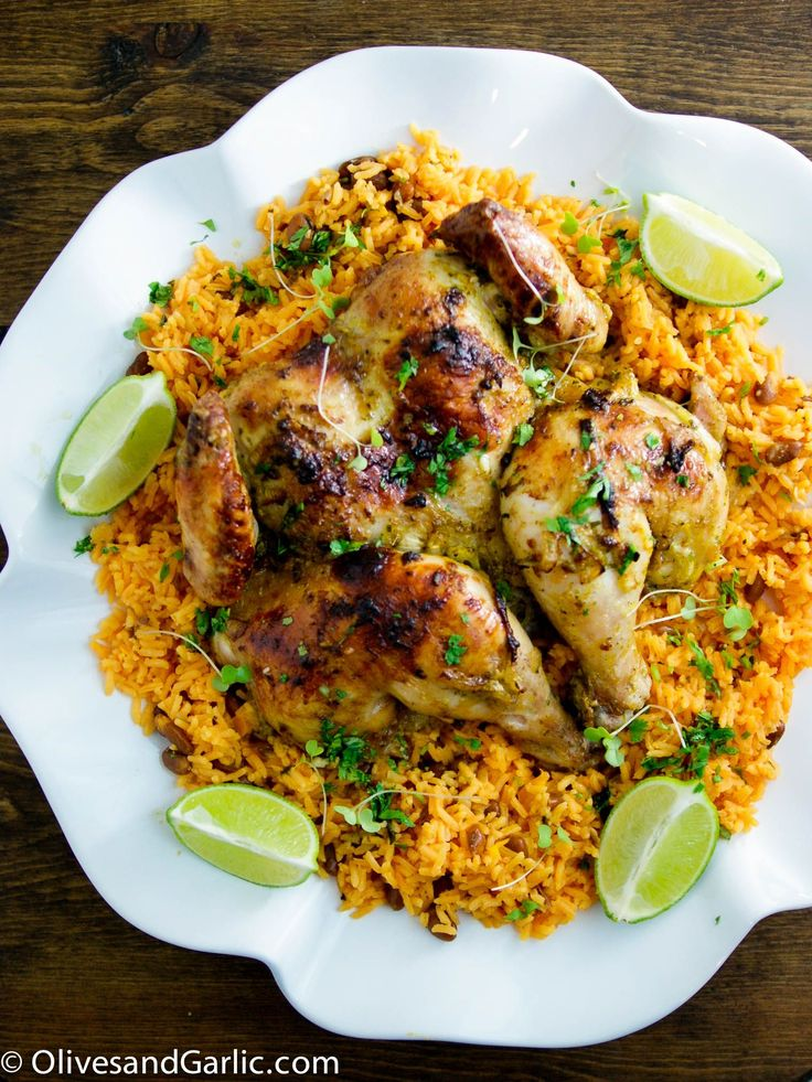Delicious Cuban Chicken with Sofrito Rice and Beans