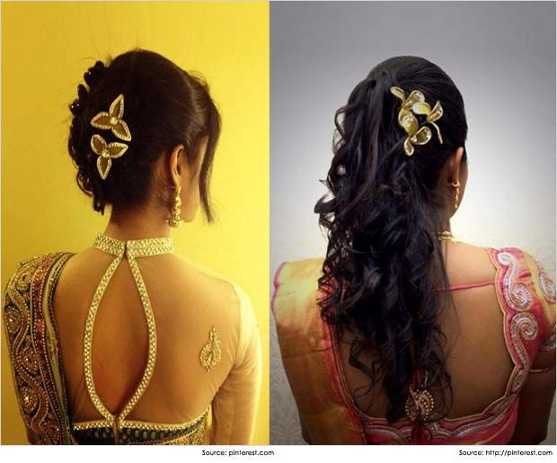 Hairstyles For Long Hair On Saree : 31 best hair styles images on pinterest