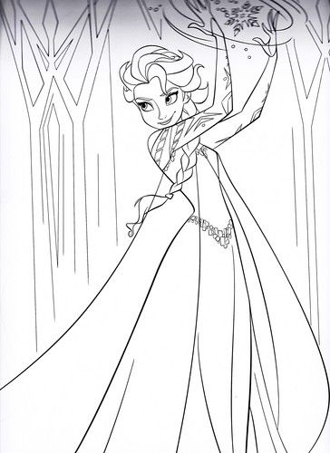 Walt Disney Characters Photo: Walt Disney Coloring Pages - Queen Elsa