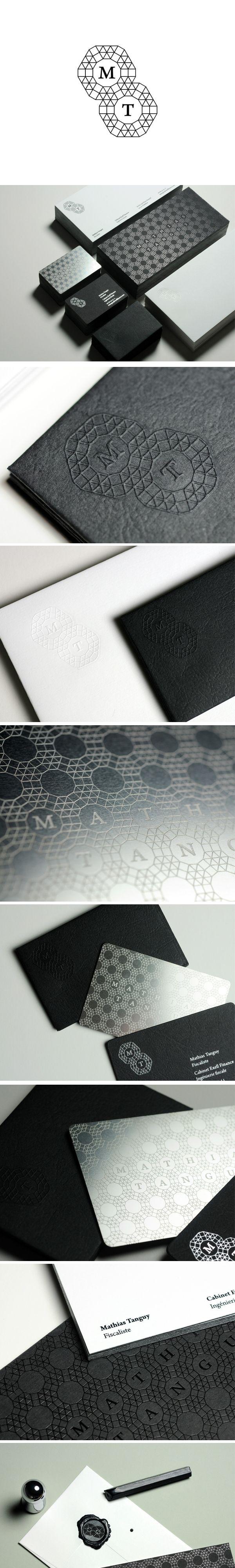 Visual identity | Stationery Design for Mathias Tanguy via Branding Served.