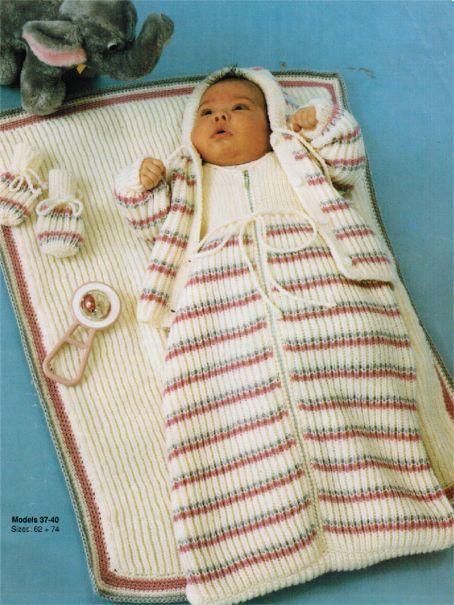 Knit Snuggly Baby Sleeping Bag Blanket Amp Jacket Set