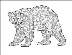 bear animals coloring book for adults by amanda neel