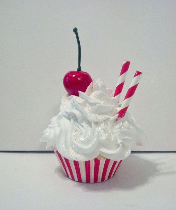 Eat More Cake Fake Cupcake Photo Prop by FakeCupcakeCreations