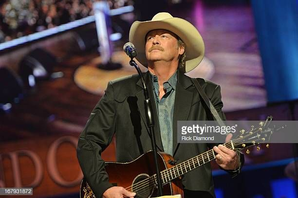 Country Musician Alan Jackson Performs At The Funeral Service For