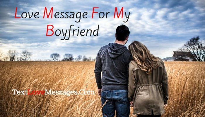 Love Message For My Boyfriend