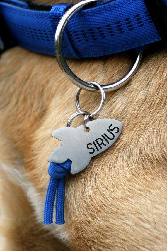 Rocket Dog Tag Space Custom Two Sides Tag Sirius Dog Space Dog