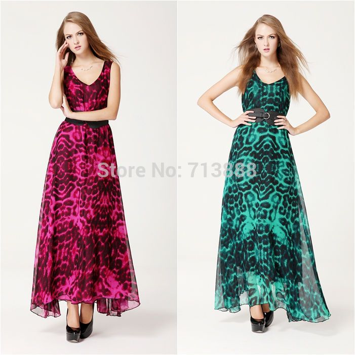 Find More Apparel & Accessories Information about Free Shipping 2014 New Women Ladies Sexy V neck Floral Summer Beach Party Cocktail Long Maxi Chiffon Vest Dress,High Quality Apparel & Accessories from Winni Wu's store on Aliexpress.com