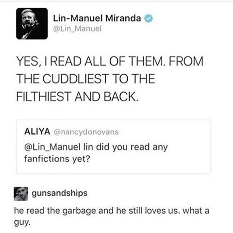 how does he still love us after reading our trash? (besides song of alexander by ciceroprofacto cause thats amazing)