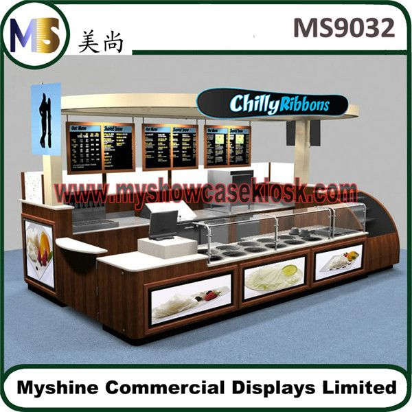 Product mall food kiosk design indoor for sale with back for Indoor food kiosk design