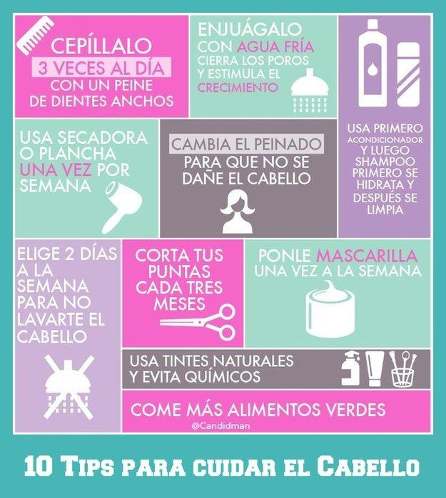 Para mantenerlo sano, no lo laves diario.   14 Infografías para cuidar el pelo que toda mujer agradecerá