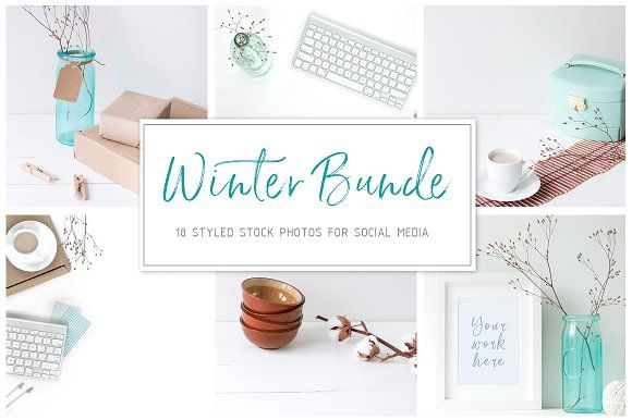 Winter stock photo bundle by White Nova Studio on @creativemarket