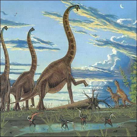 Brachiosaurus, Ceratosaurus, Rhamphorhynchus: Favorite Dino, Paleoart, Dinosaurs Poop, Brachiosaurus Dinosaurs, Fossil, Cloud, Gregorypaul Brachiosaurus, Things Dinosaurs, Dinosaurs Sauropod