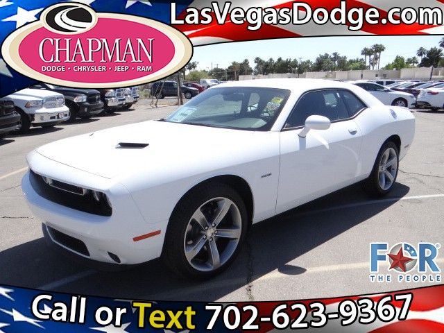 2015 Dodge Challenger R/T Hemi V-8 in a Bright White finish.