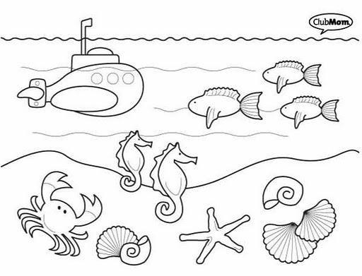 Animales del fondo del mar para colorear e imprimir - Imagui   Libro ...