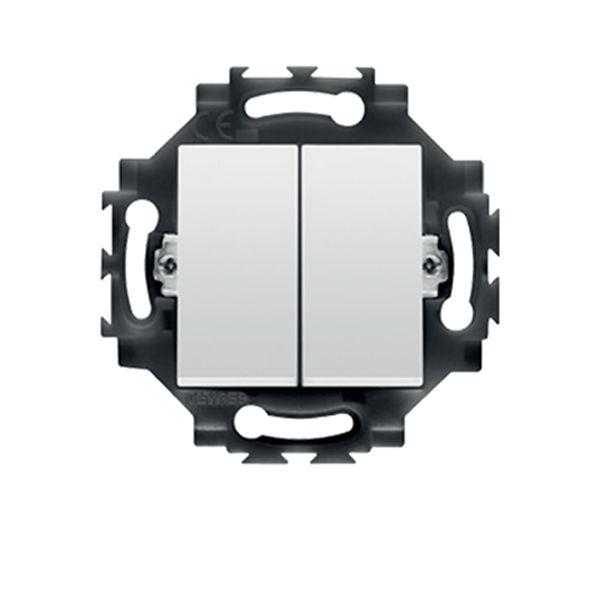 Intrerupator dublu cablare rapida 1P 10AX alb, Gewiss Dahlia, GW35051W http://www.etbm.ro/gama-dahlia