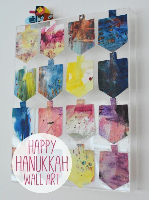 Hanukkah Wall Art - Hanukkah crafts for kids
