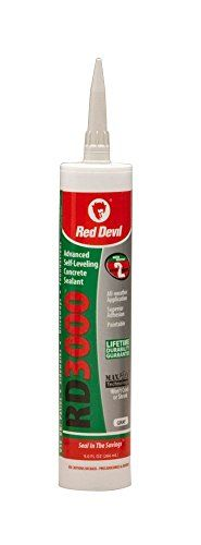 Red Devil 0980 12 Pack 9 oz. RD3000 Advanced Self-Leveling Concrete Sealant, Gray