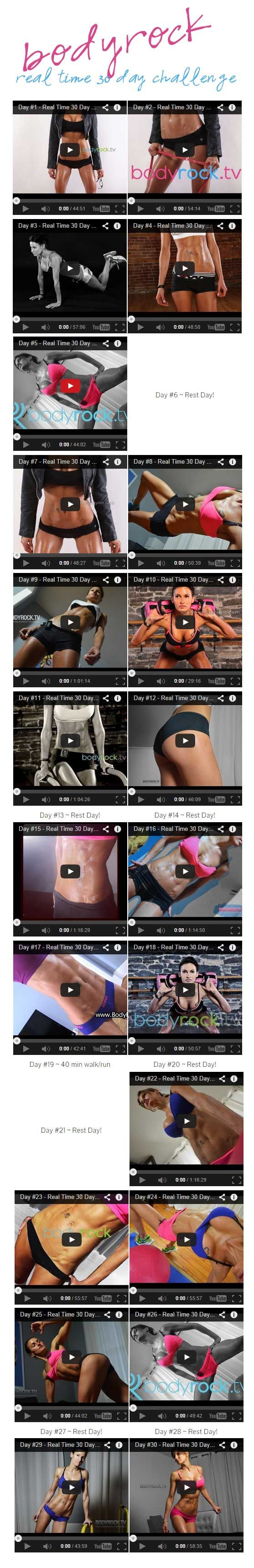 Real Time 30 Day BodyRock Challenge - The 21 Day Challenge