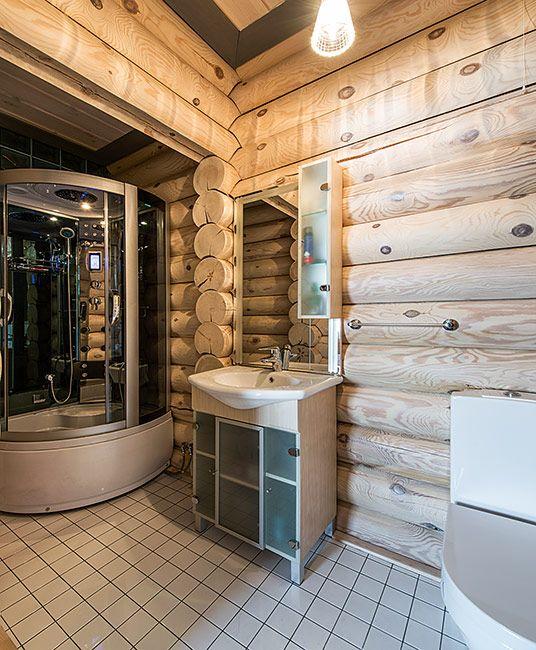 Деревянный дом из оцилиндрованного бревна в коттеджном поселке | Дома из оцилиндрованного бревна | Журнал «Деревянные дома»