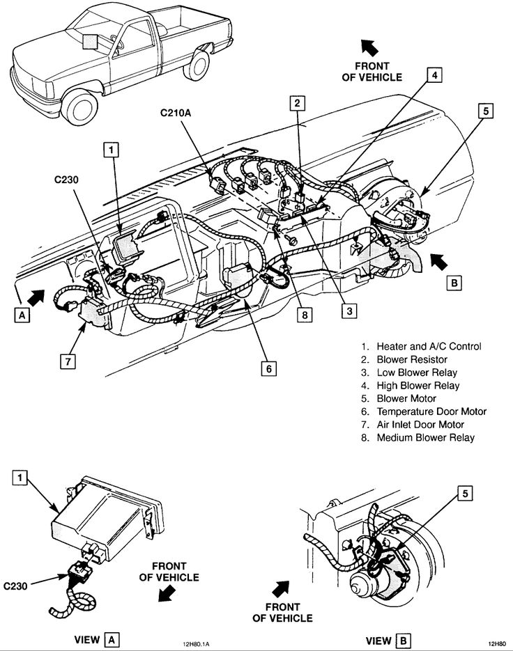 1994 chevy 1500 heater problems