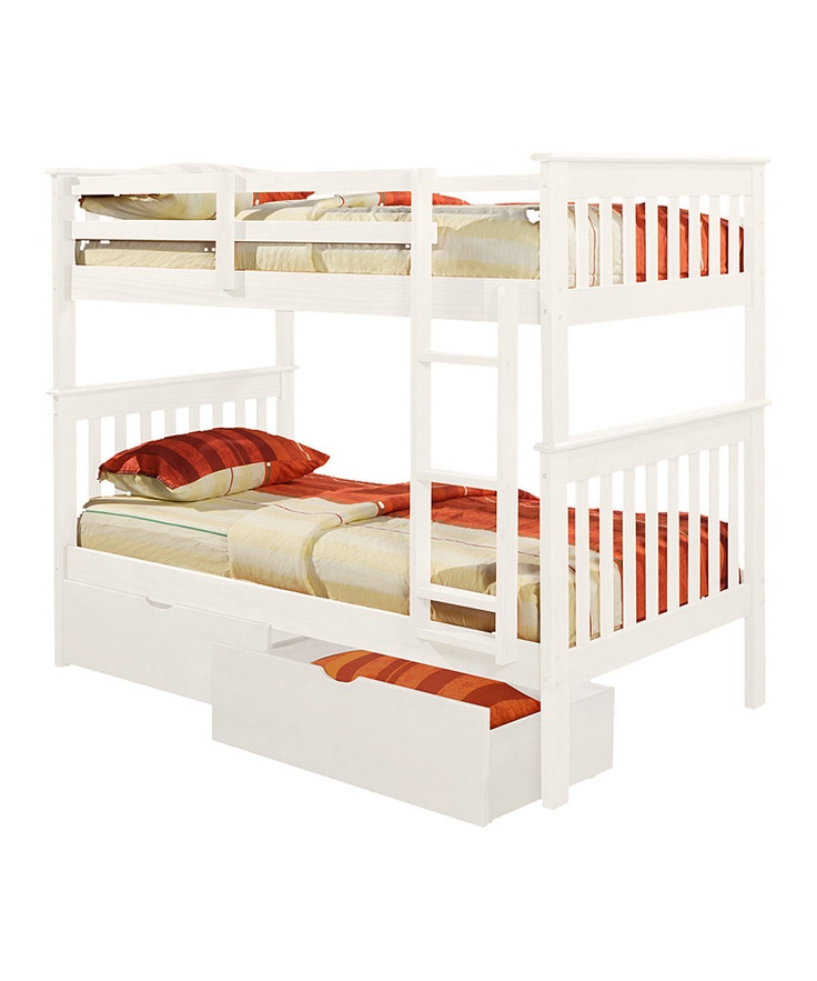 Donco Kids White Mission Twin Bunk Bed Cool bunk beds