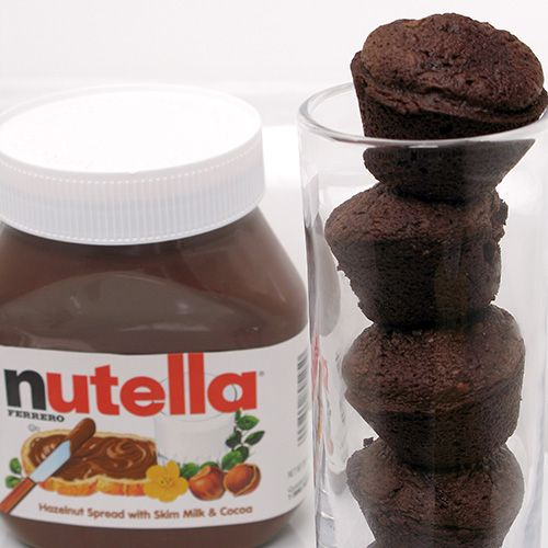 Nutella Bites - gluten free and only requires 3 tbsp of any gluten free flour.