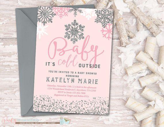 Snowflake Baby Shower Invitation Winter By PartyInvitesAndMore